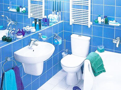 interior colors, blue and green bathroom decorating ideas