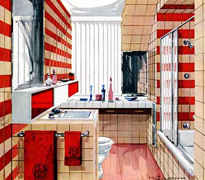retro ideas for bathroom decorating interior design style