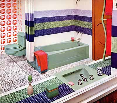 ideas for bathrooms decorating green color sink tub
