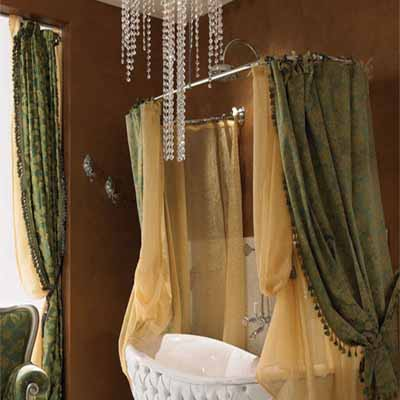 Charming bathroom decor old world bathroom decorating ideas Bathroom shower curtain ideas