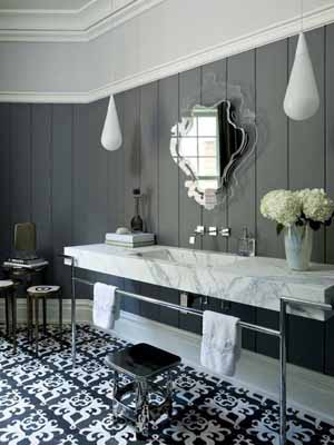 Masculine Bathroom Decorating Ideas, Gray, Black And White Decorating  Colors · Bathroom Decorating Ideas, Brown Green Color Combination