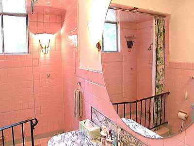 cream wall paint pink tiles bathrooms designs