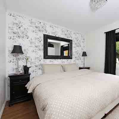 Bedroom Wallpaper Ideas on Black White Bedroom Wallpaper Neutral Room Colors