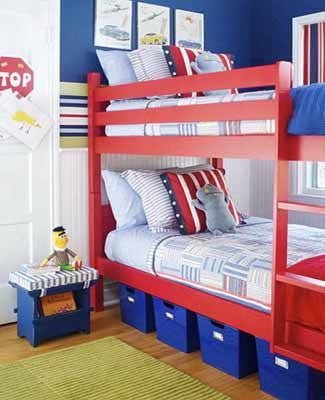 mesmerizing modern white red blue bedroom ideas boys | Patriotic Decoration, Kids Rooms Decor, Flags Color Schemes
