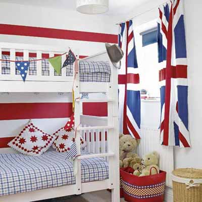 Patriotic decoration kids rooms decor flags color schemes for Patriotic home decorations