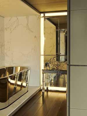 modern bathrooms, stylish bathroom decorating in art deco