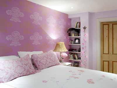 Bedroom Decorating Ideas Modern Wallpaper Purple Pink