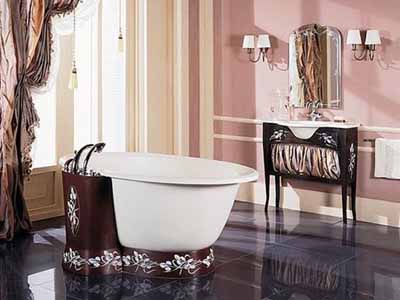 Bathroom Decorating Ideas Pink Wall Paint Stripes