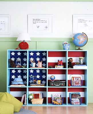 kids room decorating ideas shelves storage furniture