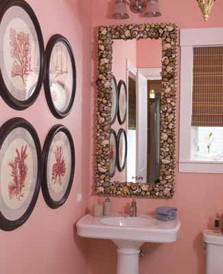 modern bathroom ideas wall decorations mirror frame