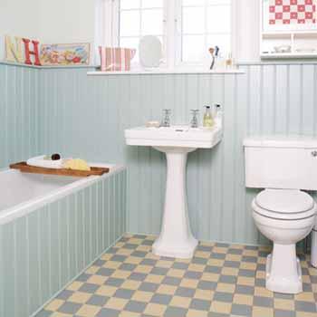 bathroom decorating ideas retro style interior design