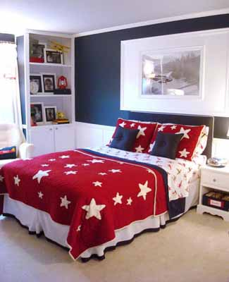 patriotic decoration kids rooms decor flags color schemes