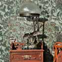 room-decorating-ideas-green-wallpaper-floral-pattern