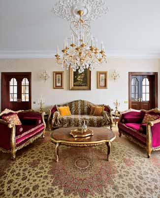 art nouveau style living room decorating ideas