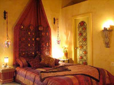 yellow orange red bedroom colors moroccan decorations