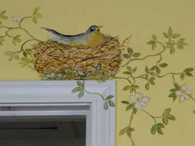 Wall Painting Designs Birds : Bird image for wall decoration modern wallpaper stickers