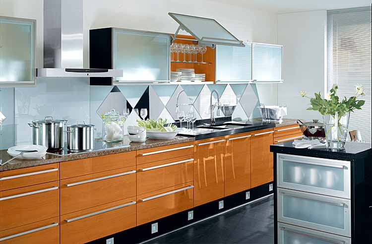 contemporary interior design style and techno kitchen design ideas