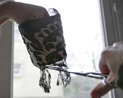 craft ideas for adults and kids, decorating mini shades with black lace, chandelier makeover do it yourself project
