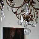 clear crystal chandelier, baroque period inslired lighting fixtures