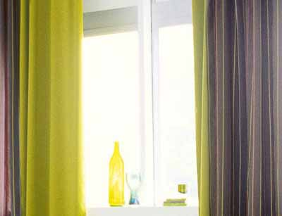 yellow green curtain fabric spring decorating ideas