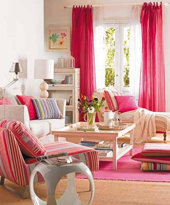 living room furnishings pink colors interior decorating