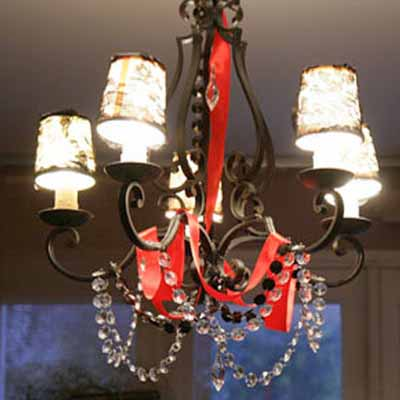 diy project, Baroque home decoration, black chandelier makeover