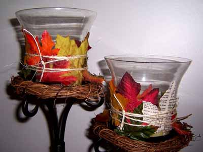 fall decorating ideas candle holders table decorations
