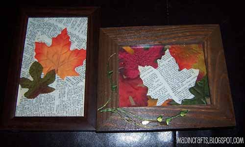 fall decorating ideas recycling paper falling leaves