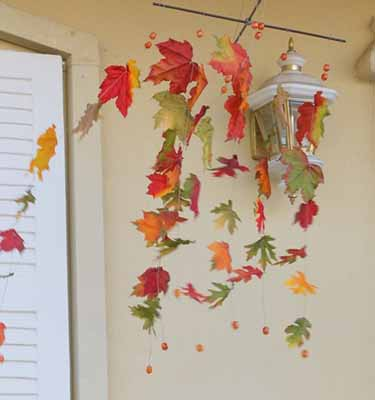 fall decorating ideas door decoration leaves