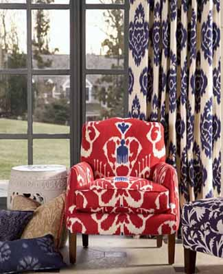 modern upholstery fabric patterns ikat