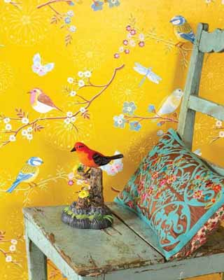 yellow wallpaper birds images modern wallpaper