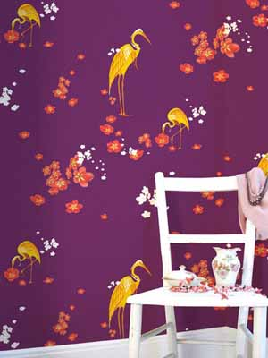 purple wallpaper retro wallpapers pattern birds