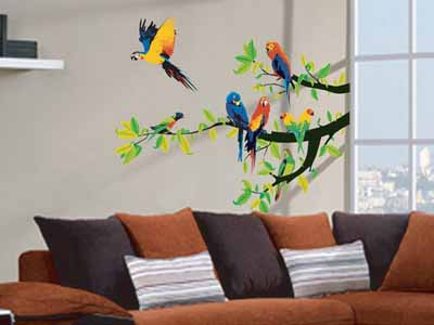 Nice Bird Decorations Wall Murals Interior Decorating Ideas