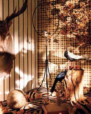 stuffed birds fall decorations interior decorating ideas