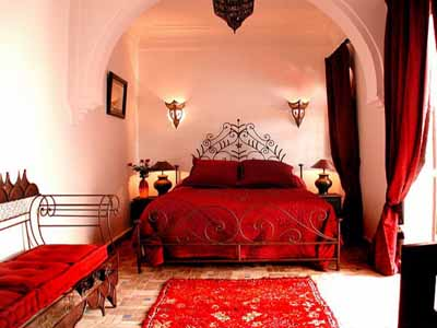 red bedroom colors moroccan interior decorating ideas