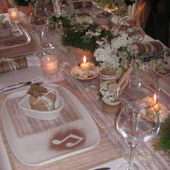 music theme decorating ideas table setting