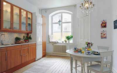 Charming scandinavian homes the essence of scandinavian - Cheerful bright kitchen color ideas for sleek interior layout ...