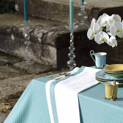 white blue table decoration tablecloth napkins