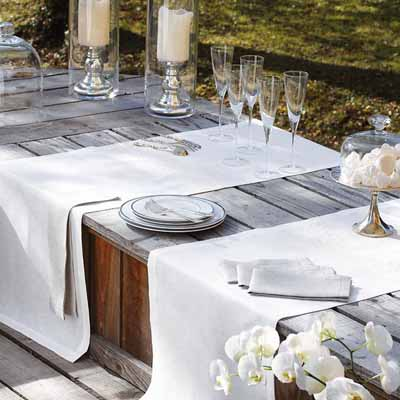 summer party table decor fabrics solid colors