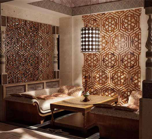 wall decoration ideas and cream and brown living room design in techno style