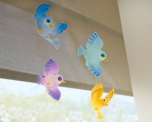 Birds inspired wall decoration ideas for kids modern kids - Wall hanging ideas for bedrooms ...
