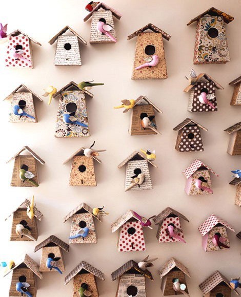 beautiful wallpapers with wooden bird houses