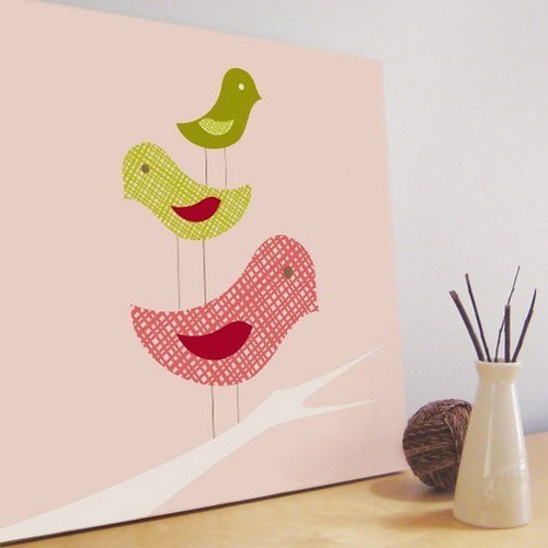 images of birds on decorative wall panels