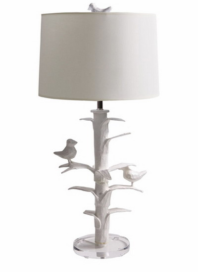 white small bird on lamp stand kids room decorating ideas