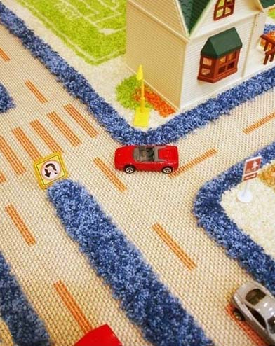 Sculptured contemporary rugs for playful kids rooms decor for Rug for kids room