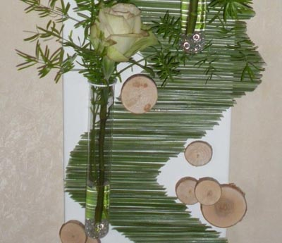 flower arrangement and ideas for wall decoration
