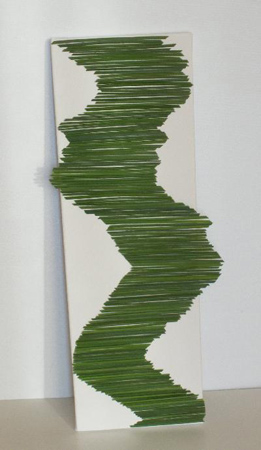 flower arrangement for wall decoration made of florist grass