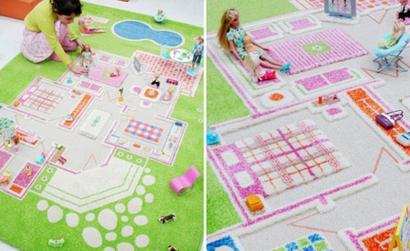 Girls Bedroom Decorating And Floor Decor Ideas With 3d Contemporary Rugs