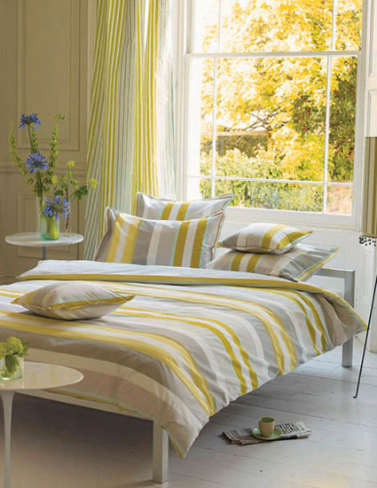 Light gray and yellow color scheme calm fall decorating ideas for Bedroom ideas yellow and grey