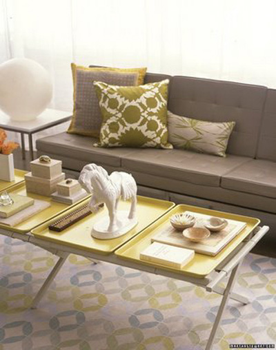 Light Gray and Yellow Color Scheme, Calm Fall Decorating Ideas